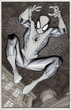 Spider-Man by the amazing Arthur Adams! Comic Book Artists, Comic Book Characters, Comic Book Heroes, Comic Artist, Comic Character, Comic Books Art, Marvel Art, Marvel Heroes, Spiderman Kunst