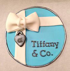 "6"" Circle Tiffany Theme Cake Topper Tiffany Theme, Fondant Cake Toppers, Themed Cakes, Theme Cakes, Cake Art"