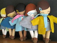 Hipster Rag Doll MADE TO ORDER by rileyconstruction on Etsy