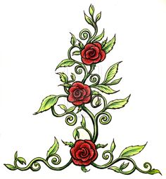 roses with thorns drawings | Rose tattoo by sladeside on deviantART