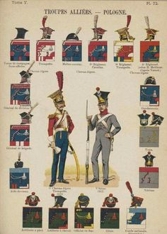 Lienhart and Humbert Poland History, Army Ranks, Holland, Army Uniform, Napoleonic Wars, American Civil War, Warsaw, Military History, Troops