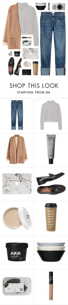"""Cappuccino"" by nauditaolivia on Polyvore featuring Current/Elliott, Line, Kate Spade, iittala, NARS Cosmetics and Moleskine"