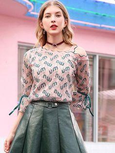 e08d6d14593bf Loose Polyester Oblique Collar Floral blouses for women