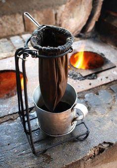 cafe feito no fogao a lenha... a moda Brasileira