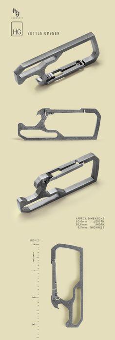 HANDGREY™ : Quick Release Titanium Keychain Carabiner by THANASIT (SUNNY) INKAVESVAANIT » THE HANDGREY HG / BOTTLE OPENER — Kickstarter