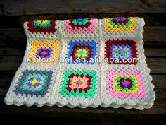 Mode 2013 fait à la main au crochet tricot couverture de bébé, crochet granny carré. bébé. afghans( kcc- hcb0025)-Couvertures-Id du produit:...