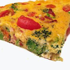 Parisielle Cuisine: Frittata brocolis, tomates cerise, et lardons