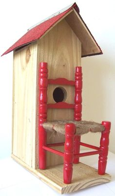 Red Chair Bird House