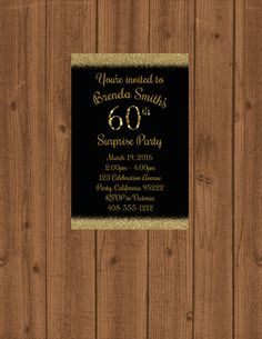 60th Birthday Invitation 60th Surprise by welcometomystore on Etsy