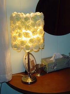 This silk rose lampshade is SO EASY to make. Isn't she lovely? :)