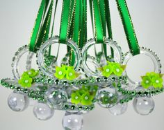 Green Peas Baby Shower Pacifier Necklace 12 by FavorsBoutique