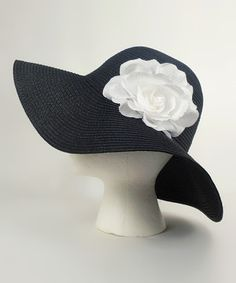Black & White Flower Sunhat $7.99 #Derby