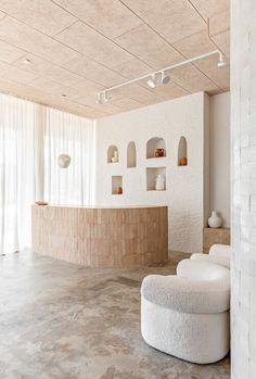 Spa Interior Design, Commercial Interior Design, Cafe Interior, Commercial Interiors, Interior And Exterior, Spa Design, Bridal Boutique Interior, Deco Boheme, Hospitality Design