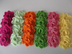 Crochet roses worked in the round. No SEWING! :)