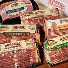 Bacon Connoisseurs Sampler Country Ham, Sizzling Recipe, Burgers Smokehouse, Gourmet Gifts, Bacon