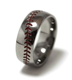 Black Zirconium Baseball Wedding Ring Wedding Rings Wedding