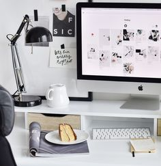 Desk situation. Cake. Ikea. Home office. Interior design. Hygge. Inredning. Home style. Workspace.