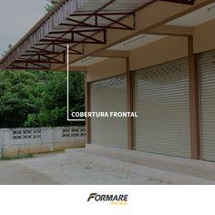 Telhas Metálicas para cobertura frontal do seu estabelecimento 👍 Além de evitar que o sol entre diretamente dentro da sua loja, você protege a fachada de chuva e calor intenso ;) #FormareMetais #Ipatinga #Dica