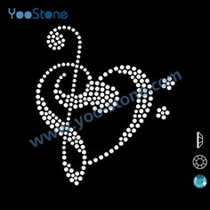 Find More Rhinestones Information about Best Rhinestone Transfer Free Shipping 20 pieces/lot Music Notes Rhinestone Transfer For Garments,High Quality rhinestone transfers for t shirts,China transfer software Suppliers, Cheap transfer paper