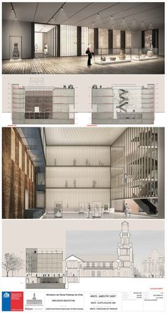 Gallery of Winner Chosen to Design Annex to Chile's National History Museum – 6 – 2019 - Architecture Decor Museum Architecture, Cultural Architecture, Architecture Portfolio, Sustainable Architecture, Architecture Design, Presentation Board Design, Architecture Presentation Board, Architectural Presentation, Interior Presentation