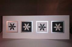 Monochrome snowflakes variation