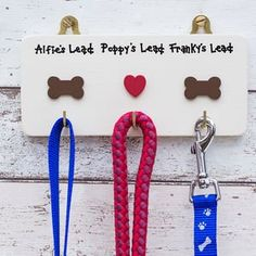 Personalised Triple Dog Lead Hanger/Holder