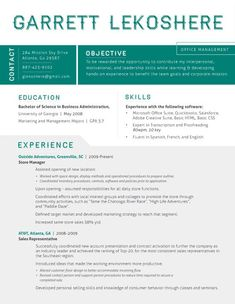 What I like: use of blocks of color, grey, and white space to break it up. I don't love the font or the color choice.   Amazing Resume Template ideas
