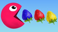 Learn Colors with Pacman and Colors Strawberry Pacman For Kids Children Toddlers Finger Family Song