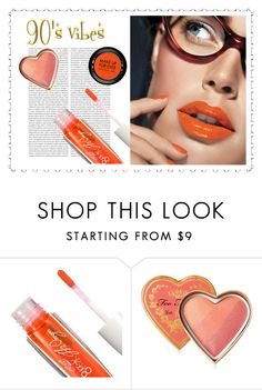 """Orange lip gloss"" by faye-valentine ❤ liked on Polyvore featuring beauty, Oris, L'Oréal Paris, Too Faced Cosmetics and MAKE UP FOR EVER"