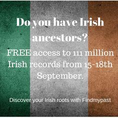 Free access to 11 million Irish records on findmypast