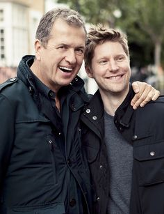 Mario Testino and Christopher Bailey behind the scenes of the Burberry Body Tender campaign shoot