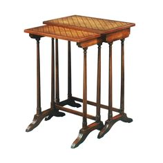 Theodore Alexander Essential Ta A Parquetry Nests Of Tables Hickory Chair, Parquetry, Theodore Alexander, Metal Pergola, Teak Table, Faux Bamboo, Nesting Tables, Regency, Woodworking Plans