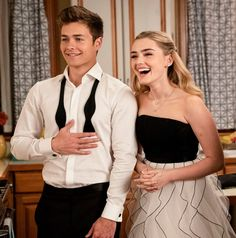 Image 155233 0694 in American Housewife - Episode - Prom (Season Finale) album Zombie Disney, Zombie 2, Cute Relationship Goals, Cute Relationships, Rhode Island, Prom King And Queen, Peyton Meyer, Meg Donnelly, Jason Grace