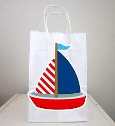 Nautical Sailboat Party Favor, Goody, Gift Bags #babyshowerideas4u #birthdayparty  #babyshowerdecorations  #bridalshower  #bridalshowerideas #babyshowergames #bridalshowergame  #bridalshowerfavors  #bridalshowercakes  #babyshowerfavors  #babyshowercakes
