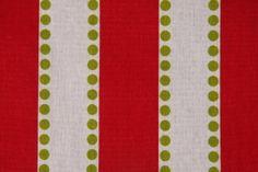 Premier Prints Lu Lu Printed Cotton Drapery Fabric in Lipstick/Chartreuse