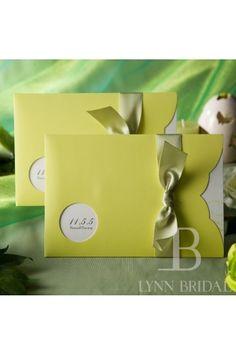 Wedding Invitation With Round Cutout 50/Set | LynnBridal.com