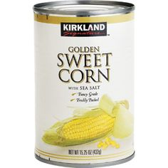 kirkland sweet corn - just checked with Coscto and their sweet corn is NON-GMO! I love these as they are quick and easy to add to recipes and taste really really good!