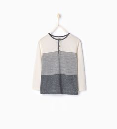 T - shirt with button neck - View all - T - shirts and Polos - Boy - Kids | 4 - 14 years - KIDS | ZARA United States