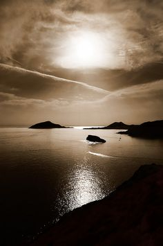 Greece ~ Cape of Sounio---sun, clouds, water=perfection