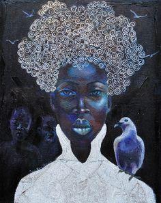 Tamara Natalie Madden, Mixed Media on Canvas, Silver Song