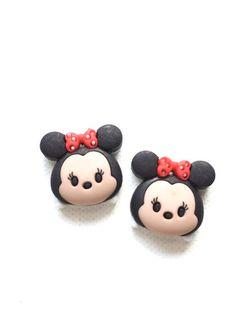 Minnie Mouse Tsum Tsum pendientes del perno prisionero lindos