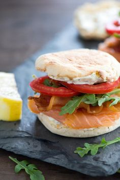 Smoked Salmon BLT has a beautiful lemon herb mayonnaise. A perfect accompaniment to salmon.