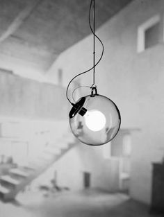 Miconos designer lampe Ernesto Gismondi kugel pendelleuchte