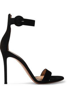 Gianvito Rossi   Portofino 105 suede sandals   NET-A-PORTER.COM