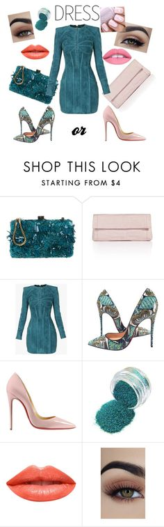 """???...🤔"" by lepavotrouge ❤ liked on Polyvore featuring Elie Saab, Nancy Gonzalez, Balmain, Christian Louboutin and Ardency Inn"