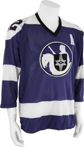 Cleveland Crusaders road jersey.