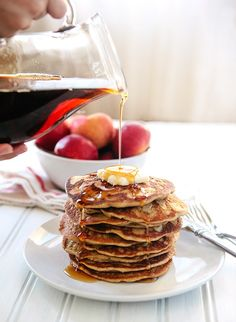 Oatmeal Apple Blender Pancakes: Easy, Gluten Free Breakfast  Also has information on millet, quinoa, etc.