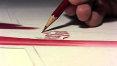 "Anamorphic AHH Video by Mark Crilley. I have seen this done as street art but never before on paper. Such an interesting optical illusion according to Mark, ""AHH occurs in both two and three dimensions simultaneously."" (via Mark Crilley's YouTube channel.)"