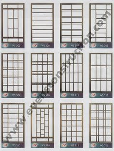Evens Construction Pvt Ltd: conceptions de fenêtres Iron Window Grill, Window Grill Design Modern, Grill Door Design, Gate Design, Window Design, House Design, Iron Windows, Windows And Doors, Window Bars