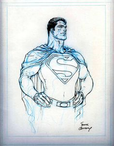 Superman sketch by Frank Quitely, 2012